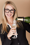 Businesswomen celebrating. Royalty Free Stock Image