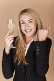 Businesswomen celebrating. Royalty Free Stock Photos