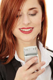 Businesswomen with cellular phone Stock Image