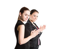 Businesswomen clapping hands Royalty Free Stock Photography