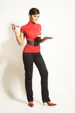 Businesswomen with  Clipboard Royalty Free Stock Photos