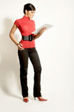 Businesswomen with  Clipboard Stock Photography