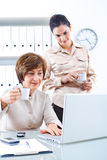 Businesswomen with coffee Royalty Free Stock Photography