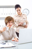 Businesswomen with coffee Royalty Free Stock Photo