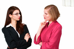 Businesswomen in conversation Stock Photography