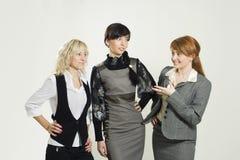 Businesswomen discussing Stock Photos