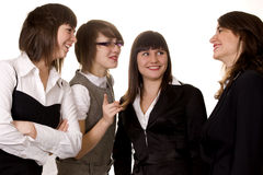 Businesswomen discussing on a meeting Stock Images