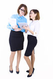 Businesswomen discussing new project Royalty Free Stock Images