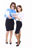 Businesswomen discussing new project Royalty Free Stock Photos
