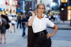 Businesswomen downtown Royalty Free Stock Images