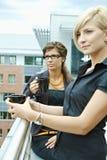 Businesswomen drinking coffee Stock Photo