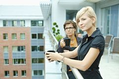 Businesswomen drinking coffee Royalty Free Stock Photography