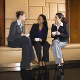 Businesswomen drinking coffee. Royalty Free Stock Photography