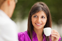 Businesswomen drinking coffee Stock Image