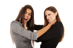 Businesswomen fighting Royalty Free Stock Photos