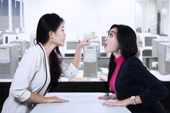 Businesswomen fighting Stock Photo