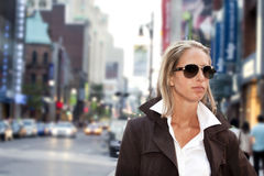 Businesswomen going to work downtown Royalty Free Stock Image