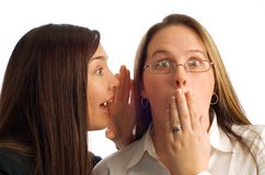 Businesswomen Gossiping Royalty Free Stock Photo