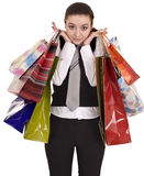 Businesswomen with group of bag shopping. Stock Images