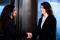 Businesswomen handshake Stock Photography