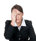 Businesswomen has headache Royalty Free Stock Photography