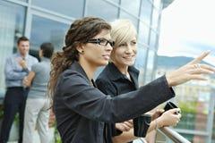Businesswomen having break royalty free stock images
