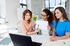 Businesswomen having video conference at office Royalty Free Stock Images