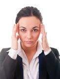 Businesswomen with a headache, massaging Stock Image