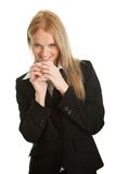 Businesswomen holding a cup of coffee Royalty Free Stock Image
