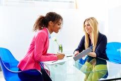 Businesswomen interview meeting multi ethnic Royalty Free Stock Photos