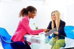 Businesswomen interview meeting multi ethnic Stock Photos