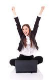 Businesswomen with lap-top Stock Photography