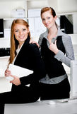 Businesswomen with Laptop and Computer Royalty Free Stock Photo