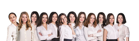 Businesswomen lineup Royalty Free Stock Images