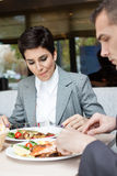 Businesswomen on lunch Stock Images