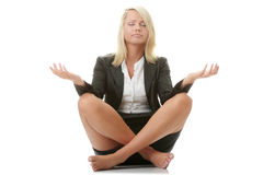 Businesswomen meditating Royalty Free Stock Photo