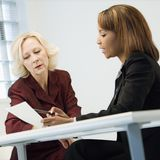 Businesswomen in meeting Royalty Free Stock Photography