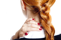Businesswomen with neck pain Stock Photography