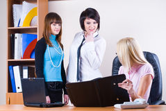 Businesswomen in office Stock Images