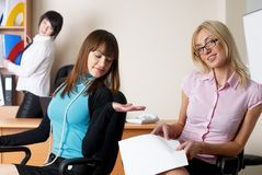 Businesswomen in office Stock Image