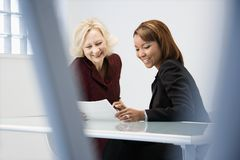 Businesswomen in office Stock Photos