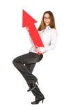 Businesswomen playing with arrow Stock Photos