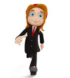 Businesswomen with running pose. 3d illustration of businesswomen with running pose Stock Photography