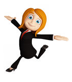 Businesswomen with running pose Stock Photography