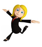 Businesswomen with running pose Royalty Free Stock Images