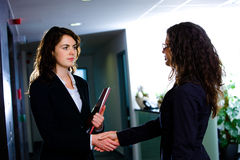 Businesswomen shaking hands Stock Image