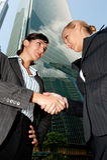 Businesswomen Shaking Hands stock images