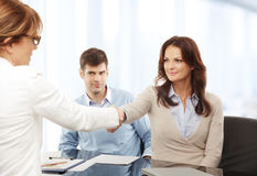 Businesswomen Shaking Hands Stock Image