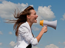 Businesswomen shouts Royalty Free Stock Images