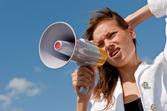 Businesswomen shouts Royalty Free Stock Image